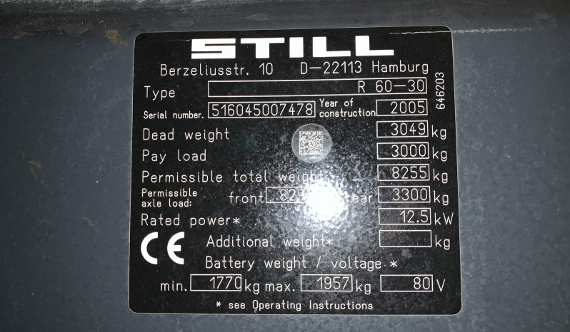 STILL R60-30 Vorkversteller Sideshift full