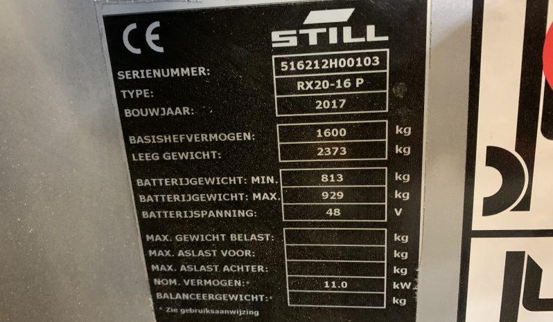 STILL RX20-16 P 4 Wheel Freelift Sideshift Inclusief Acculader full