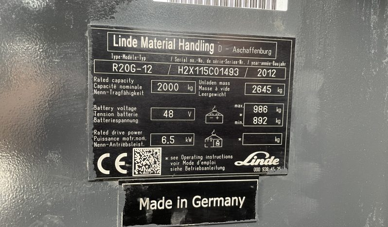 Linde R20 G-12 Ruw Terrein Inclusief acculader full